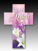 Easter Bookmark Cross (each): Jesus Is Risen (HCE7719)