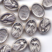 Zinc Alloy Spacer Bead (each):  Divine Mercy 10mm(ME10858)