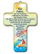 Wall Cross: Our Father 18cms(CRB12)