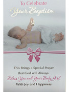 Card (each): Baptism Pink(CD22653e)