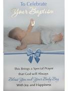 Cards (each): Baptism Blue(CD22652e)
