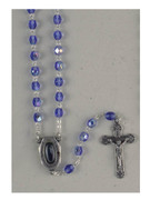 Rosary: Blue Glass with Lourdes Water (RX206AL)