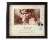 Baptism Gift: Frame with Cross Motif: Godchild (PLB6005)