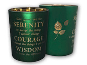 Glass Votive Candle: Serenity Prayer(CH4319SY)