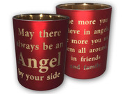 Glass Votive Candle: Angel by Side(CH4319AN)