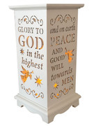 Wood Lanterns with LED Light: Glory to God(LT84698)