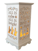 Wood Lanterns with LED Light: Silent Night(LT84699)