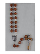 Wood Rosary: 7mm Oval Bead Brown (RX202FDN)