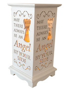 Wood Lanterns with LED Light: Angel(LT84690)
