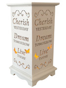 Wood Lanterns with LED Light: Cherish(LT84691)
