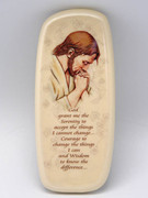 Wall Plaque: Pearl Stone Christ Praying Serenity (PL2946SP)