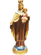 Resin Statue, Our Lady Mt Carmel 14cm (STR522)