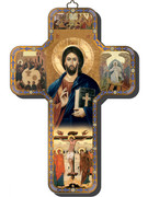 Wooden Cross with Foil Highlights: Christ Teacher (CRICW01)