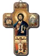 Wooden Cross with Foil Highlights: Christ Teacher (CRICW01)