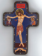 Wooden Cross with Foil Highlights: Icon Crucifix (CRICW06)