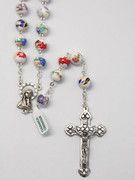 Rosary: Rose Ceramic 9mm bead (RX5599)
