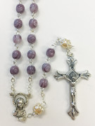 """Rosary: Glass 6mm """"Amythest"""" (RX6120AM)"""