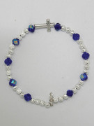 Rosary Bracelet: Dark Blue Crystal (RB5280B)