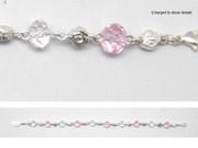 Rosary Bracelet: Pink & Crystal (RB2131)