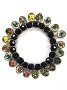 Saint Bracelet: Black Crystal 20 Images (BR13022)