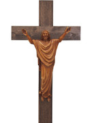 Wall Crucifix: Wood Look Corpus 48cm (CRAP40)