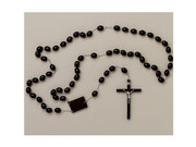 Wall Rosary: Wood Oval Beads (WROV21)