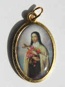 Gilt Picture Medal: St Theresa (ME518)