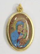 Gilt Picture Medal: Our Lady of Perpetual Succour (ME533)