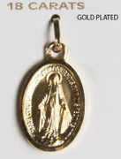 18kt Gold Plated Pendant: Miraculous 22mm (ME1415)