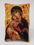 1269 Series Plastic Plaque: Our Lady Vladimir Icon (PL1269VL)
