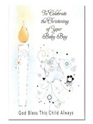Packet Cards (6): Christening Boy (CD22703)