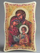 1109 Series Plastic Plaque: Holy Family Icon (PL110904C)