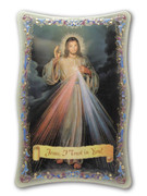 1109 Series Plastic Plaque: Divine Mercy (PL110958)