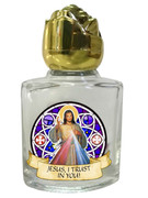 Glass Holy Water Bottle 6mL: Divine Mercy (GE1058)