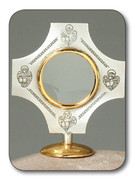 Lunette(small Monstrance): Gold & Silver, 4 Evangelists (CWL272)
