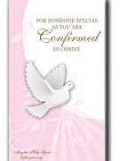Confirmation Cards(EACH): Pink Dove (CDF5525E)