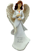 Resin Angel 16cm:  Baptism(HA8015)