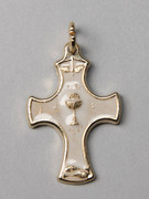 Combined Communion & Confirmation Cross Pendant (CR64807)
