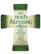 Wall Cross in Porcelain: Irish Blessing(CR201IB)