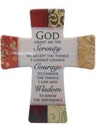 Wall Cross in Porcelain: Serenity Prayer(CR201SP)