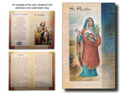 Biography Bi-Fold Card: St Agatha (LF5400)