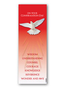 Laminated Bookmark: Confirmation RED (LCF060)