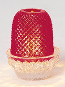 Candle Holder: Red (Pinapple Lamp) (GE971R.)