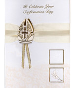 Confirmation Cards(EACH): Handcrafted Bishop Hat(CD28102e)