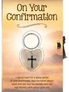 Card with Lucky Heart: Confirmation (CDH4160)