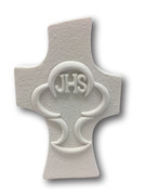 Communion Gift: White Cross & Chalice 9.5cm (PLC5047)