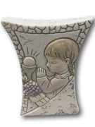 Communion Gift: Stone Look Girl 7.5cm (PLC5043)