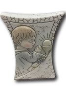 Communion Gift: Stone Look Boy 7.5cm (PLC5042)