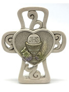 Communion Gift: Cross, Heart & Symbols 8.5cm (PL5066)