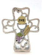 Communion Gift: Cross & Symbols 14cm (PL5071)